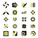 vektor för 26 elementsymboler Arkivbild