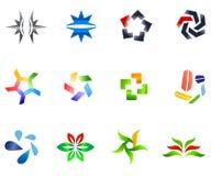 vektor för 4 12 färgrik set symboler Royaltyfri Fotografi