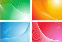 vektor för 4 abstrakt bakgrunder royaltyfri illustrationer
