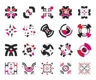 vektor för 5 elementsymboler Royaltyfria Bilder