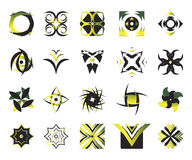 vektor för 7 elementsymboler Royaltyfria Bilder