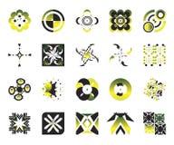 vektor för 8 elementsymboler Arkivfoton