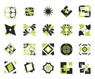 vektor för 9 elementsymboler Fotografering för Bildbyråer