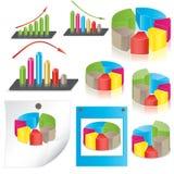 vektor för affärsillustrationstatistik Arkivfoto
