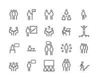 vektor för affärssymbolsfolk stock illustrationer