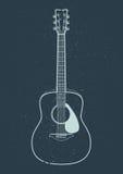 Vektor för akustisk gitarr vektor illustrationer