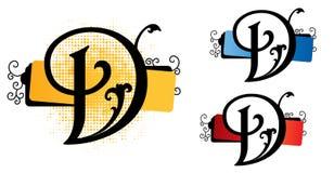 vektor för alfabet D Royaltyfri Foto