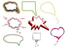 vektor för anförande för dialog för ballongbubblor färgrik Royaltyfri Bild