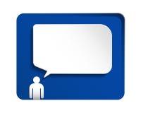 vektor för anförande för papper för illustration för element för dialog för bubblaoklarhetsdesign Royaltyfria Bilder