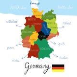 Vektor för attraktion för Tysklandöversiktshand Arkivfoto