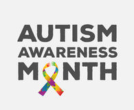Vektor för autismmedvetenhetdesign Arkivfoton