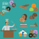 Vektor för bagerihusdesign Arkivfoton