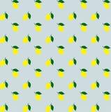Vektor för bakgrund för modell för gula citroner för tecknad film sömlös seamless citronmodell Gul citrus färgrik citronmodell vektor illustrationer