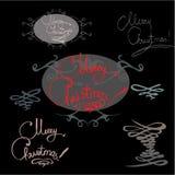 Vektor för bakgrund för nytt år för kalligrafi för mallhälsninghandskrift stock illustrationer