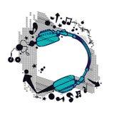 Vektor för bakgrund för parti för musikklubbareklamblad Arkivfoto