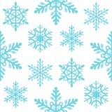 Vektor för bakgrund för ferie för vinter för glad jul för sömlös modell för snöflinga och för lyckligt nytt år dekorativ pappers- stock illustrationer