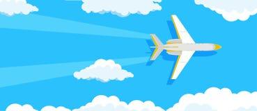 Vektor för bakgrund för loppbanerturism Värld för design för affisch för sommarsemester Tur för flygplanferielivsstil Blått nat h vektor illustrationer