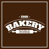 Vektor för bakgrund för nytt bröd 1980 för bageri brun Royaltyfria Bilder