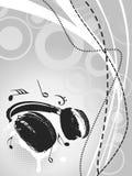 vektor för bakgrundsgrungeheadphone Royaltyfria Foton