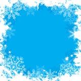 vektor för bakgrundsgrungesnowflakes Arkivbild