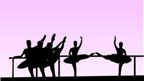 vektor för balettflickaskola Arkivfoton
