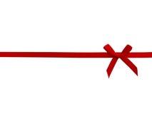 vektor för band för bowillustration röd Arkivbild