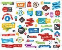 Vektor för baner för etikettsetikettklistermärke Royaltyfri Fotografi