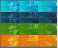 vektor för banersamlingsillustration Arkivfoton