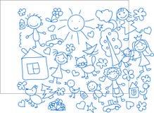 vektor för barnteckningar s Arkivfoton