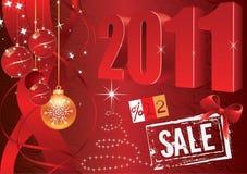 vektor för befordrings- försäljning för 2011 element set stock illustrationer