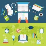 Vektor för begrepp för sikt för funktionsdugligt kontor för folk för affär för grupp för arbetsställe skrivbords- vektor illustrationer