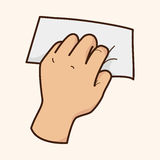 Vektor för beståndsdelar för tema för handinnehavpapper, eps Royaltyfria Bilder