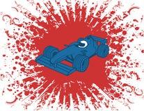 vektor för bilformelillustration en royaltyfri illustrationer