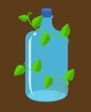 Vektor för bioplastic för vattenflaskor Arkivbilder