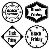 Vektor för Black Friday symbolsuppsättning royaltyfri illustrationer