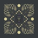 vektor för blom- blomma för element enkel Vektorprinting för naturprodukter royaltyfri illustrationer