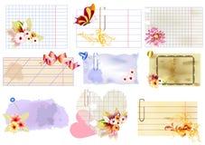 vektor för blom- papper för banerdesign set Stock Illustrationer