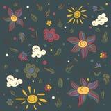 vektor för blommaillustrationkruka Abstrakt teckning, vektorillustration Royaltyfria Foton
