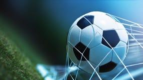 vektor för bollmålfotboll arkivfoton