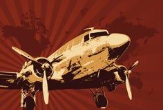 vektor för bombplanillustpropeller Arkivfoto