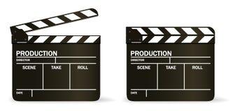 vektor för brädeclapperfilm Arkivfoton