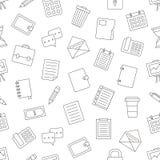 vektor för brevpapper för symbolsillustrationkontor set Arkivfoton