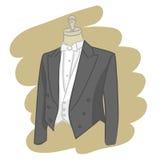 vektor för brudgum för klänningeps-mapp Arkivfoton