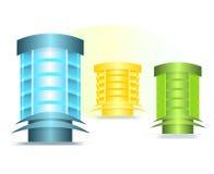 vektor för byggnadscdrkontor Arkivbild