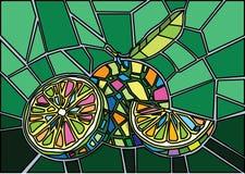Vektor för citronmålat glassillustration stock illustrationer