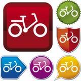 vektor för cykelsymbolsserie Royaltyfri Foto