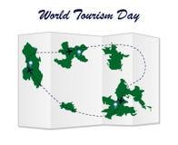 Vektor för dag för världsturism Royaltyfri Illustrationer