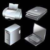 vektor för datorutrustningar stock illustrationer
