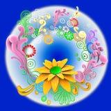vektor för design för abstrakt begrepp 3d blom- Royaltyfri Fotografi