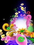 vektor för design för abstrakt begrepp 3d blom- Arkivbilder